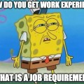 How do you get work experience if you've ever worked a job before?
