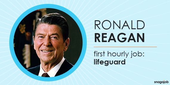 Ronald Reagan started his career saving lives as a lifeguard.