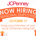 JcPenney is hiring seasonal employees at their hiring fair