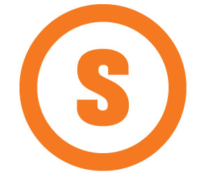S- Logo Only Orange