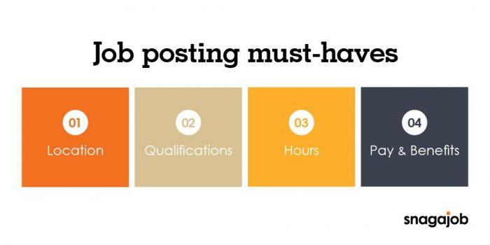 Job posting must haves