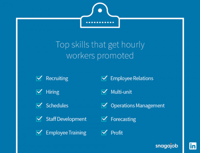 Top skills for hourly employee promotion