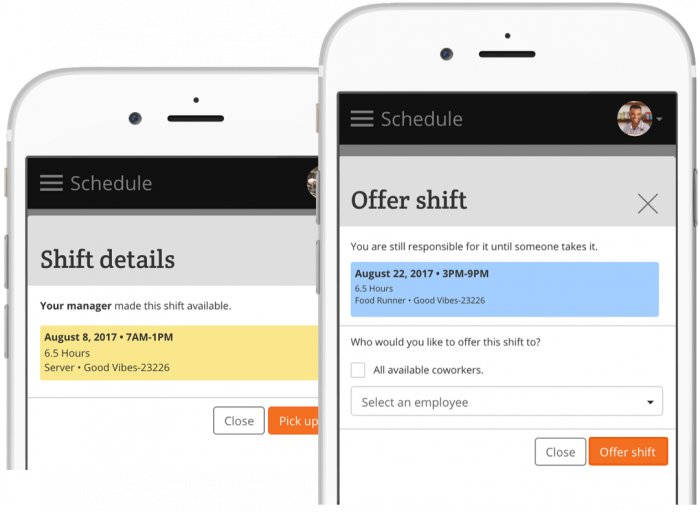Snagajob workforce management platform screens